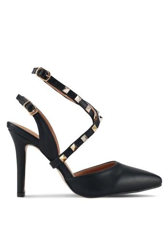 Something Borrowed black Embellished Heels FAB7FSH569B6EAGS_1