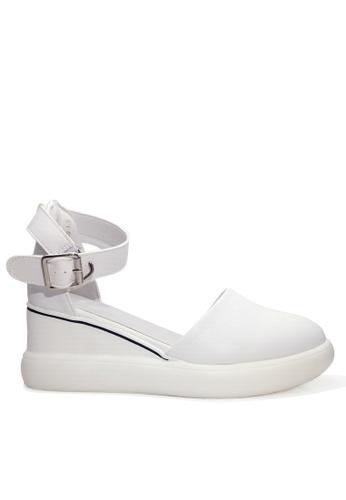 Twenty Eight Shoes 白色 獨特的真皮船跟鞋 VL6301 6EEC1SH9F1F07CGS_1