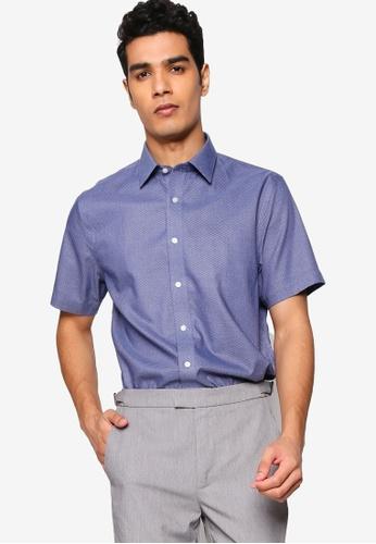 Banana Republic 藍色 Printed Short Sleeve Shirt 34F76AA41D0D24GS_1