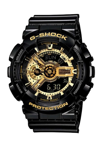 CASIO black Casio G-Shock Gold and Black Resin Watch 8FC9AACD5AD8DCGS_1