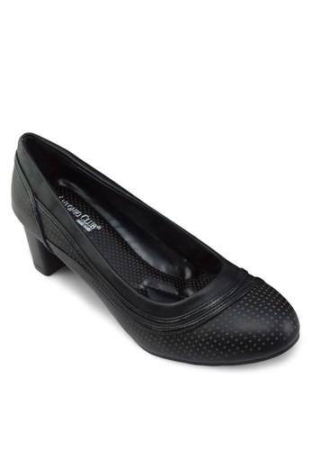 網眼仿皮粗esprit分店跟鞋, 女鞋, 鞋