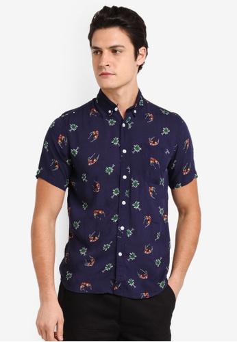 Flesh IMP multi Gelbmen Short Sleeve Floral Shirt E8323AA65D6A52GS_1