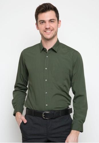 RICCIMAN green Ricciman Slim Fit Lengan Panjang Green DEF84AAD84464BGS_1
