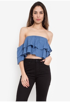 31ee0268c20213 Chase Fashion blue Fria Off Shoulder Crop Top 88343AA96F7888GS_1