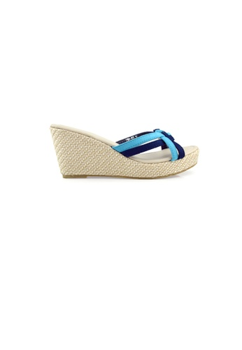SHINE blue Slip On Braided Wedges C1073SHC95EEFFGS_1