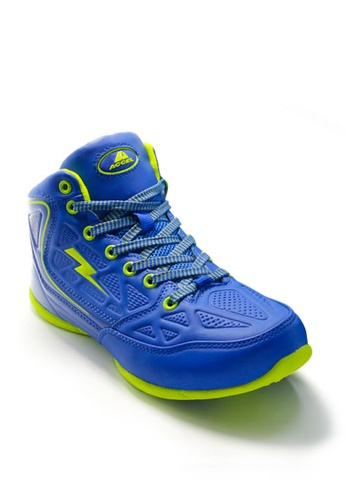 ACCEL green and blue P-Guard 2 Sports Lifestyle Shoes AC958SH12KHNPH_1