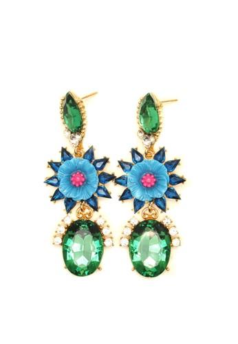 Istana Accessories green Anting Majda Kristal Fashion Earrings CE450AC9607D68GS_1