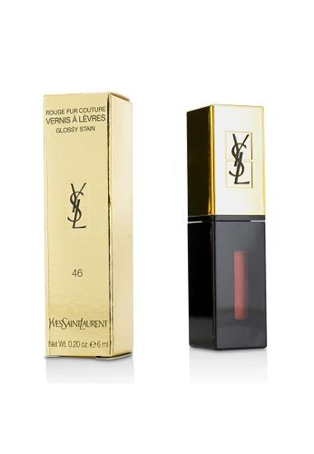 Yves Saint Laurent YVES SAINT LAURENT - Rouge Pur Couture Vernis a Levres Glossy Stain - # 46 Rouge Fusain 6ml/0.2oz 5F85DBEA94E036GS_1