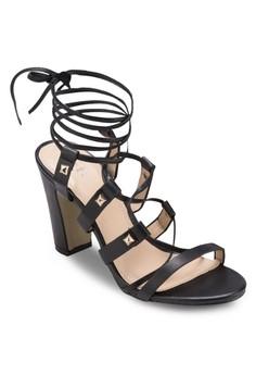Zelia Gladiator Heels in Black