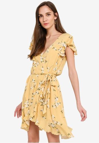 Mink Pink yellow and multi Maggie Mini Dress A9B8DAAF400114GS_1