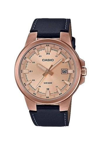 Casio pink Casio Classic Fashion Watch (MTP-E173RL-5A) B861BACEC4D2F0GS_1