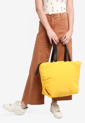 Desigual yellow Zip Shopper Bag 6B298AC358164AGS_1
