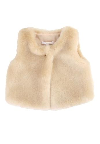 Chloé beige Chloé Baby Girls Waistcoat 817DCKA7AC6663GS_1