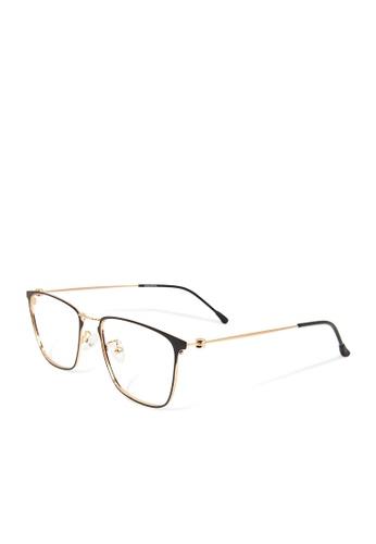 ASLLY black and gold Pantheon│Anti-blue light glasses with super light Gold titanium frame EE0E4GLA5B99B3GS_1