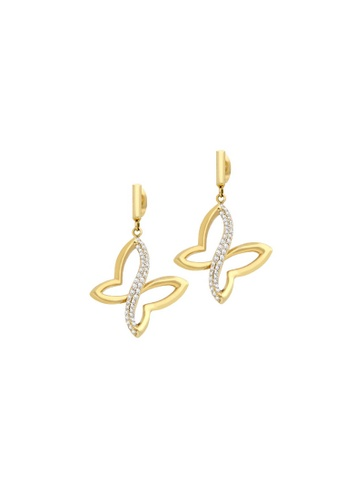 Morellato gold Morellato Battito Jewel Rhodium-Plated In Silver Ladies Earrings SAHO08 15D93AC6B757C2GS_1