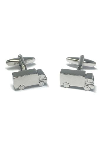 Splice Cufflinks Silver Lorry truck Cufflinks SP744AC35ABGSG_1