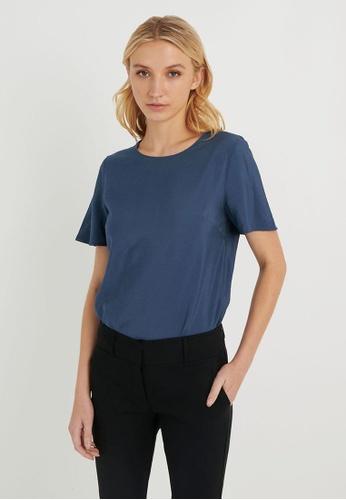 FORCAST blue FORCAST Rania Short Sleeve Blouse 4EF7EAA8672392GS_1