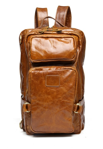 Twenty Eight Shoes Vintage Cow Leather Multi-Function Backpack 8856 249DAAC41EC411GS_1