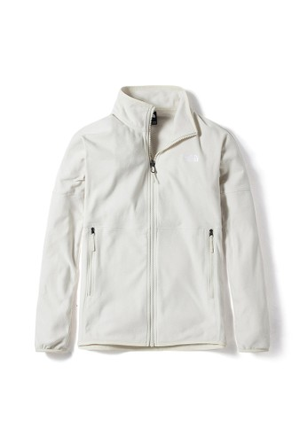 The North Face white The North Face Women TKA Glacier Full Zip-NF0A49AZK82 C9B4DAAA92AD55GS_1