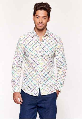 United Colors of Benetton white Printed Shirt 71955AA0BCB97BGS_1
