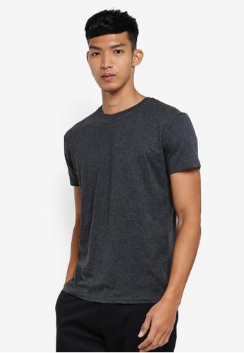 !Solid 灰色 短袖混色T恤 21702AA4FF0B7BGS_1