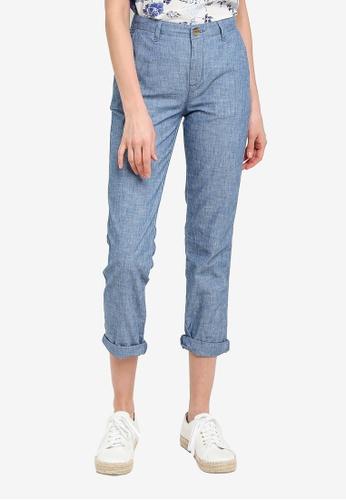 GAP blue V-Girlfriend Khaki Chambray Pants 90FB5AA831A906GS_1