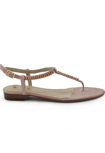Shu Talk pink Suede Leather Sandals SH397SH0FPJ5SG_1
