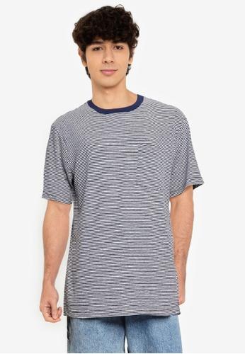 GAP navy Short Sleeves Linen T-shirt A38A5AA0122D01GS_1