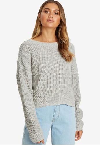 Calli grey Laura Cable Knit Jumper 0A400AA825A803GS_1