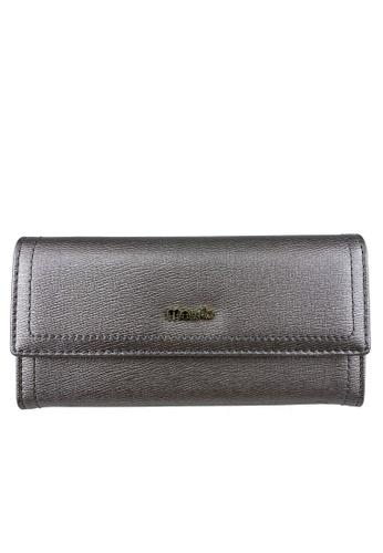 Mel&Co grey Faux Leather Long Wallet D748CACF6DA631GS_1