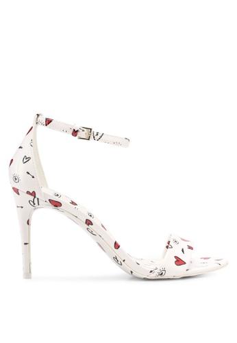 ALDO white Cally Heeled Sandals 35AFBSHB6B9C33GS_1
