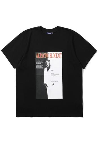 BLOCKAIT black Akita Ken graphic tee 6B4A7AA8EDF651GS_1