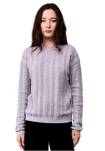 22 Factor grey Katie Dimensional Cable Merino Wool 73B2AAA56FDB73GS_1