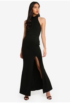 199a83eb4e8 MISSGUIDED black Petite Racer Maxi Dress 1E8B7AA758E1C5GS 1