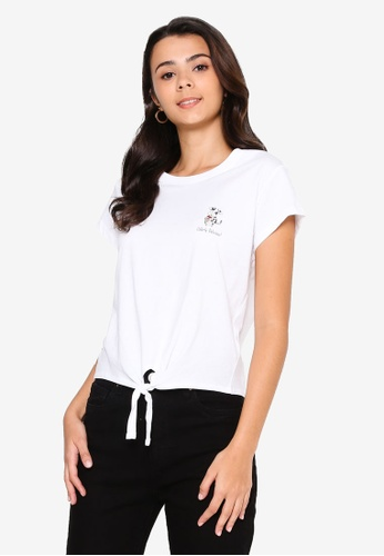 Cotton On white Tie Front Cny Graphic Tee 5955BAAB64B787GS_1