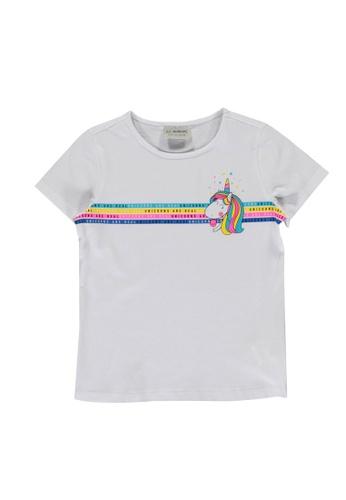 LC Waikiki white Girl Unicorn Printed T-Shirt F5E46KAE593082GS_1