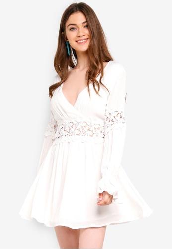 aeef900365 Buy INDIKAH Long Peasant Sleeve Lace Skater Dress