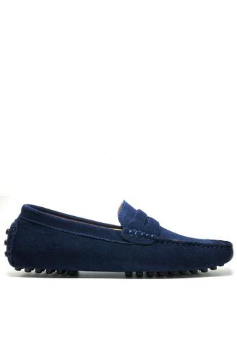 Twenty Eight Shoes 藍色 真牛猄皮休閒帆船鞋MC024 7EFB8SHFDD9421GS_1