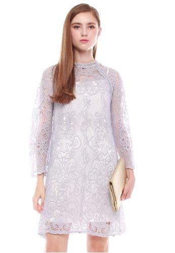 JOVET purple Crochet Dress 9F932AAC3FB08DGS_1