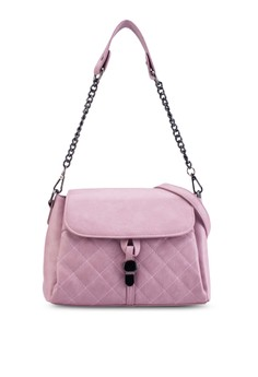 Quilted 2-Way Convertible Sling Bag