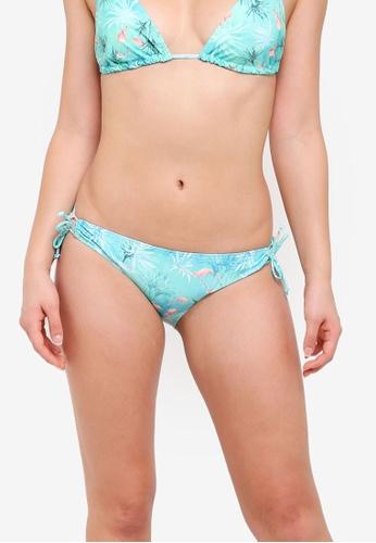 Dorothy Perkins green Green Flamingo Loop Side Bikini Bottoms 44290US5E7E81DGS_1