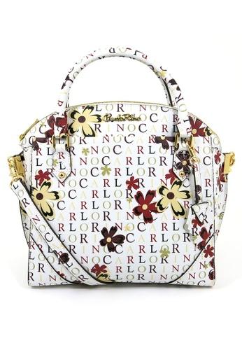 Carlo Rino white and multi Carlo Rino 0303678-003-00 Top-handle bag (White) DE22FACFF2A753GS_1