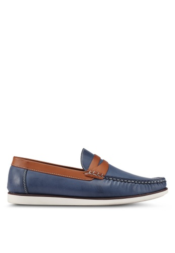 JAXON blue Classic Canvas Loafers E21E0SHB2A7018GS_1