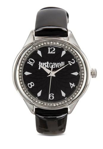 zalora 評價R7251571505 Jc01 閃鑽皮革手錶, 錶類, 飾品配件