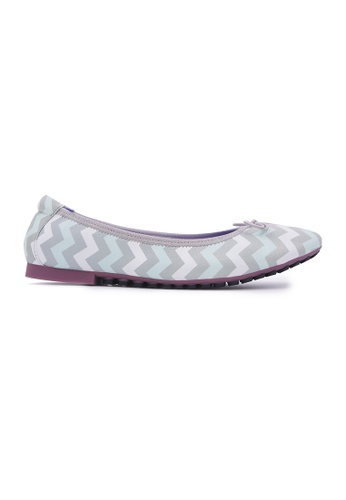 Flatss & Heelss by Rad Russel grey Chevron Flats - Grey 83F1BSHB350A33GS_1