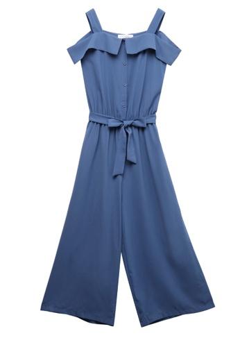 c2ebd9efe3ed Shop Tokichoi Cut Off Shoulder Tie Jumpsuit Online on ZALORA Philippines