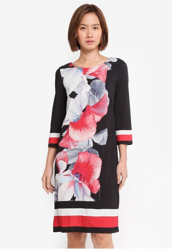 Wallis black Black Rouge Orchid Tunic Dress A6465AAAD5603BGS_1