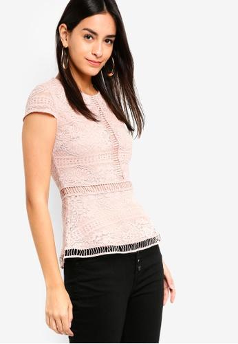 ZALORA pink Lace Top CDCF9AA733C4E7GS_1