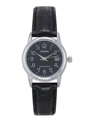 CASIO black Casio-Jam Tangan Wanita-LTP-V002L-1BU-Hitam 0BD58AC352E439GS_1