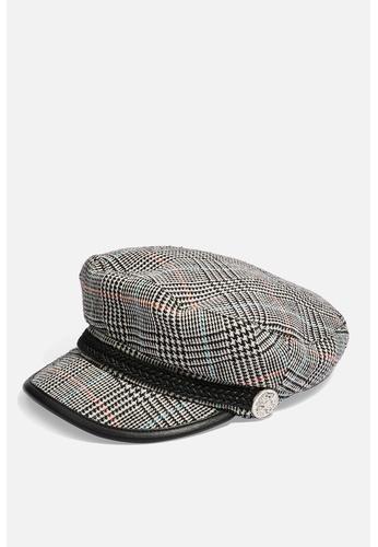 Shop TOPSHOP Houndstooth Baker Boy Hat Online on ZALORA Philippines b4ef34f2dd6c